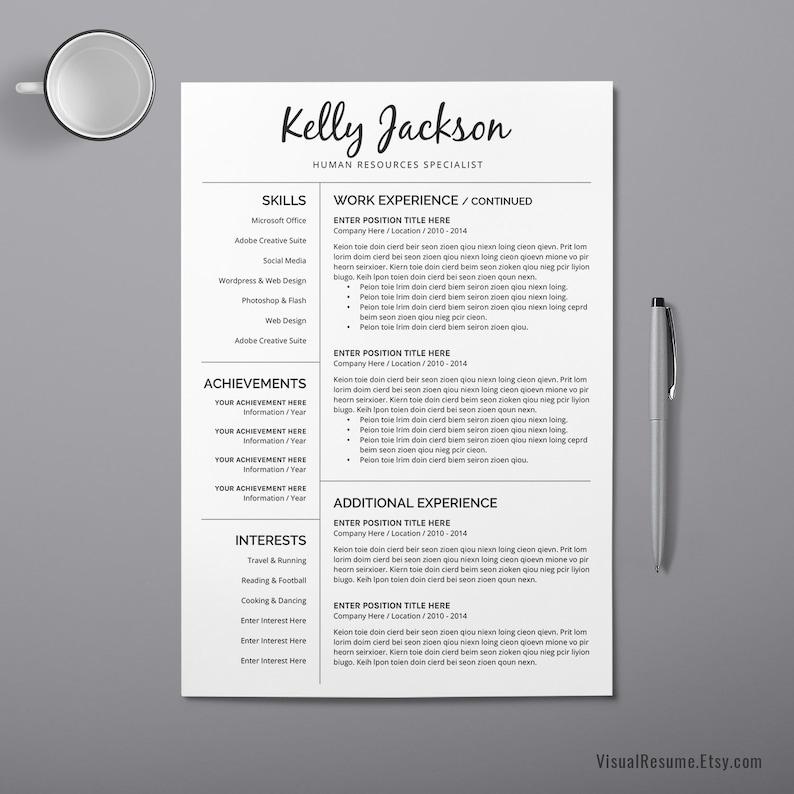 2019 Professional Resume CV Resume, Cover Letter, Creative Modern Word  Resume. Professionals Digital Resume, Internship Resume. Kelly Resume