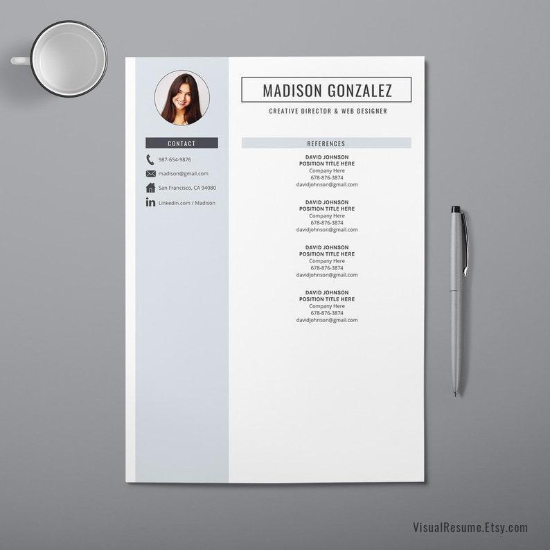 2019 Resume Template Modern CV Template Cover Letter Word | Etsy