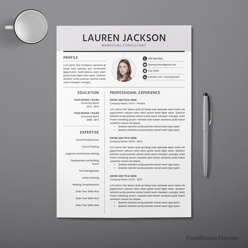 2019 Creative Resume CV Template Multiple Page MS Word