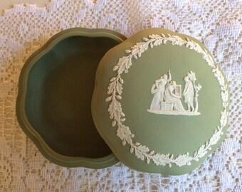 Vintage Wedgwood Jasperware Covered Dish