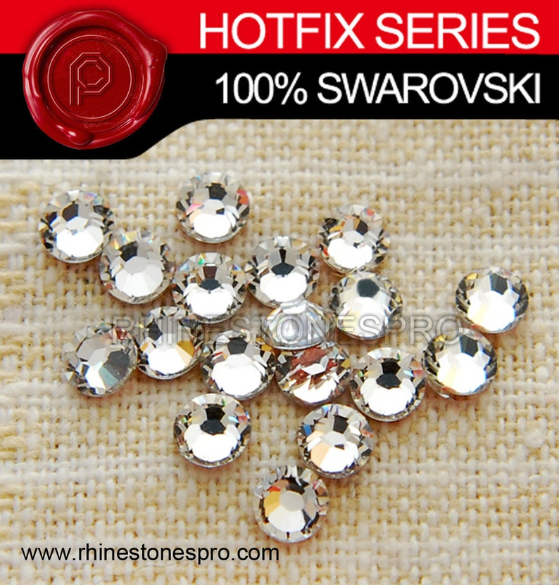 44f30e8652f157 Swarovski Elements Hot Fix Crystal Clear 001 144pieces