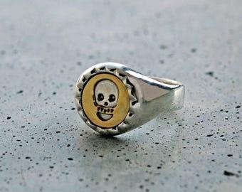 Three Layer Ring – Skull