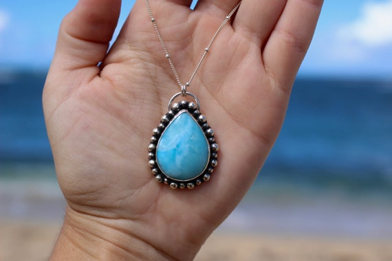 Larimar Necklace Pendant