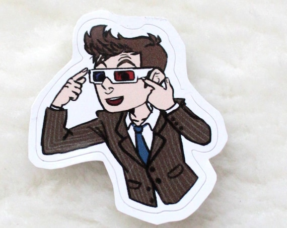 Doctor Who 10th Doctor 3D glasses sticker