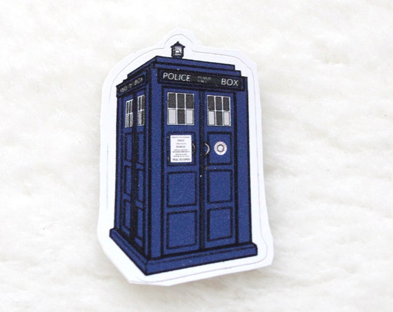 Doctor who sticker the Tardis