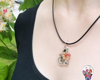 Gentleman cat acrylic necklace