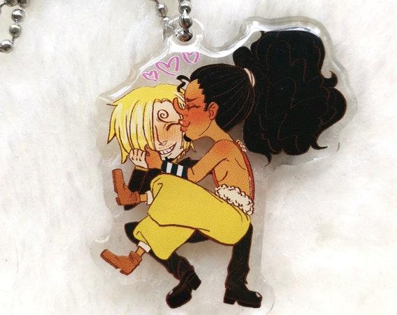 One Piece SanUso charm/keychain Sanji x Usopp