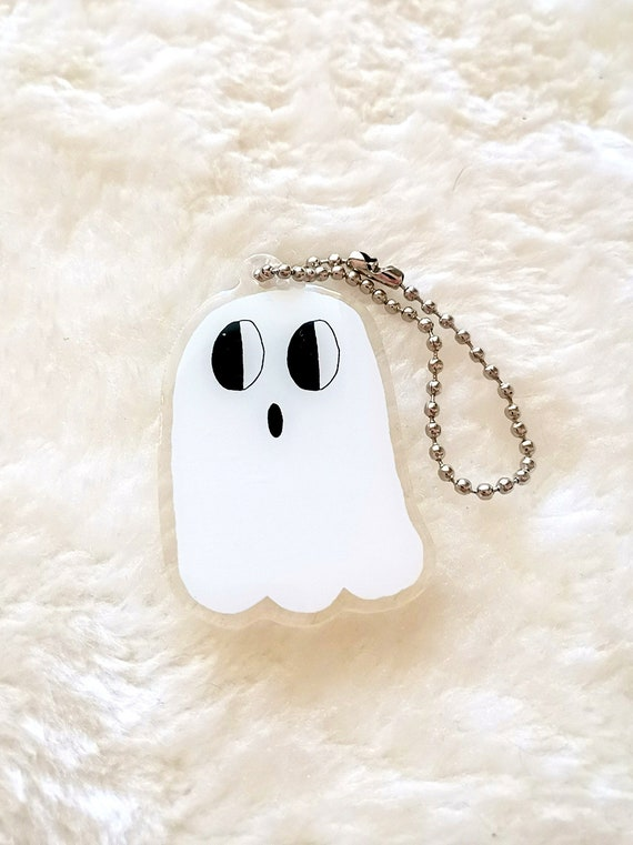 A ghost keychain/charm
