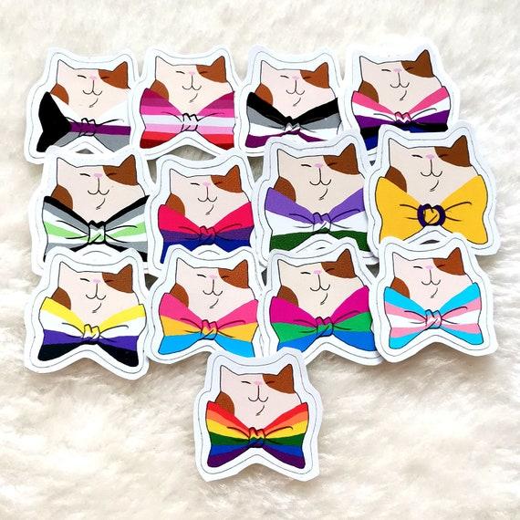 LGBT CATS vinyl sticker transgender bisexual
