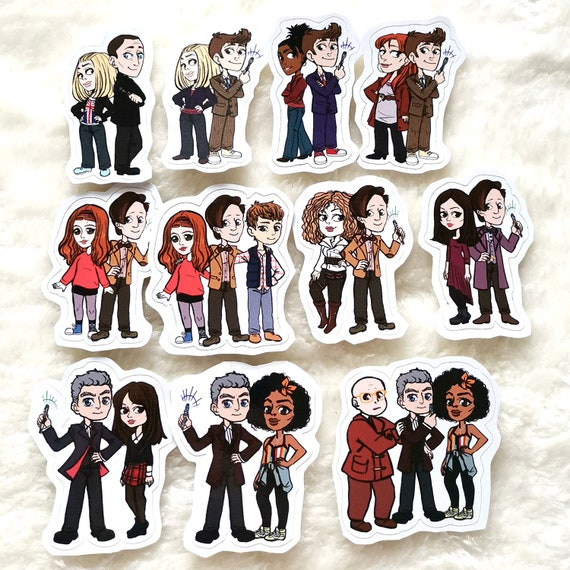 Doctor Who sticker the Doctors and their companions