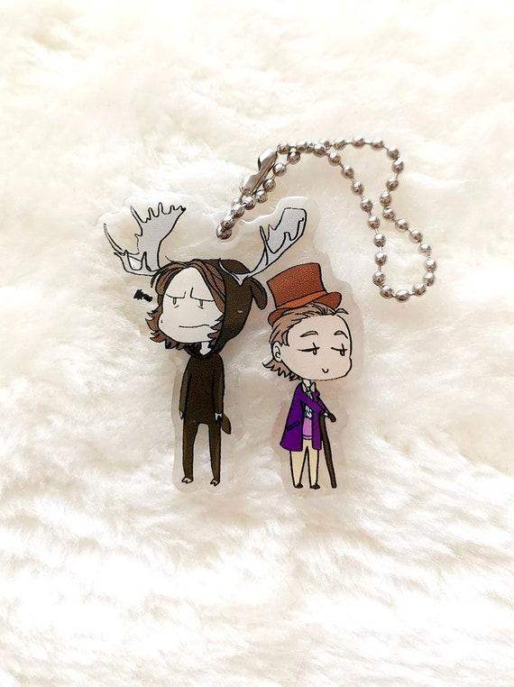 Supernatural charm keychain chibi Halloween Sabriel