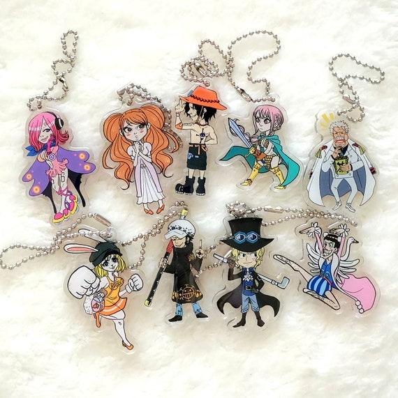 One Piece charm keychain friends and allies