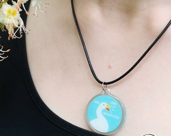 Untitled Goose Game necklace