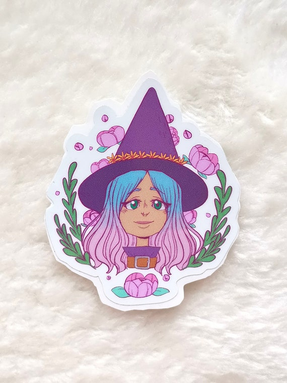 Flower Witch vinyl sticker