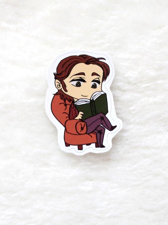 Supernatural sticker Sam reading a book
