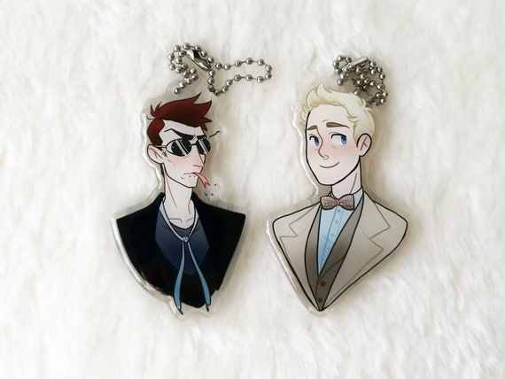 Good Omens Crowley and Aziraphale charms