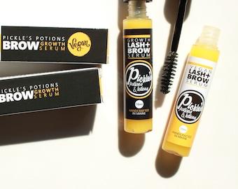 Lash + Brow Serum | Eyebrow and Eyelash growth | Castor Oil, Horsetail | Eyebrow Serum | Lash Health | Grow Eyebrows | Eyelash Oil Natural
