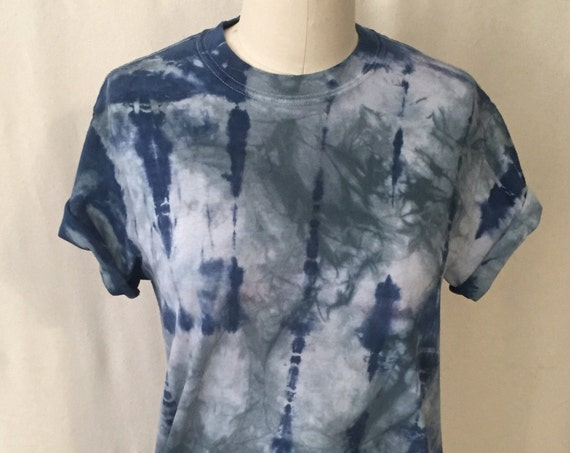 SALE Over dyed Shibori Tee Shirt ( unisex S)