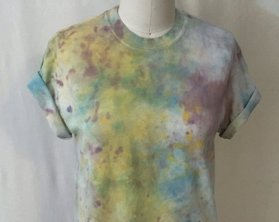 SALE Pollack Abstract Hand Painted Tee ( unisex S)