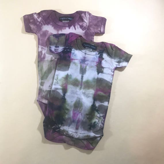 Pink and Green Shibori Tie Dye Playsuit
