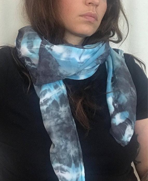 Shibori Plaid Square Scarf