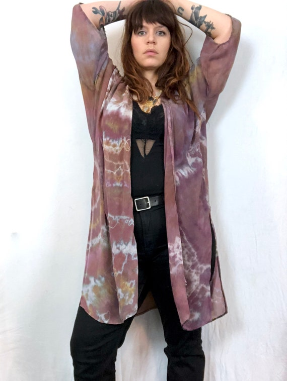 Silk Shibori Open Robe