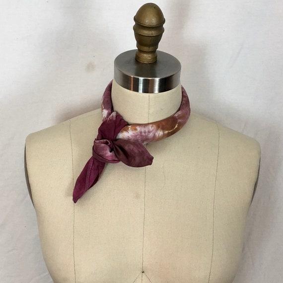Bright Peony Pink Shibori Tie Dye Cotton Bandana