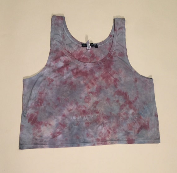 Hand Dyed Crop Tank (size L/XL)