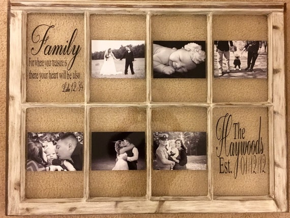 Window Picture Frame 8 Pane Rustic Distressed Antique Window Etsy