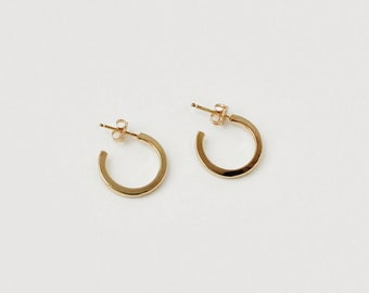 2b1d8e04e Perfect Gold Hoops, Gold Hoop Earrings Stud, Square Gold Hoops, Minimalist  Gold Hoops, Modern Gold Hoop Earrings, Medium Hoops | Acclaimed