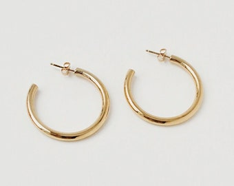 0cffc4bbc Chunky Gold Hoop Earrings, Big Gold Hoops, Gold Hoop Earrings, Bold Gold  Hoops, Perfect Hoop Earrings, Everyday Statement Earring | The Ange