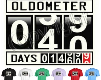 a8a0a466 OLDOMETER 40 years old forty anniversary birthday party Funny graphic tee T-shirt  P265