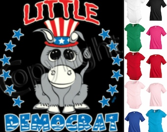 Little Democrat elections Kids T shirt Youth tee Baby Toddler bodysuit KP165