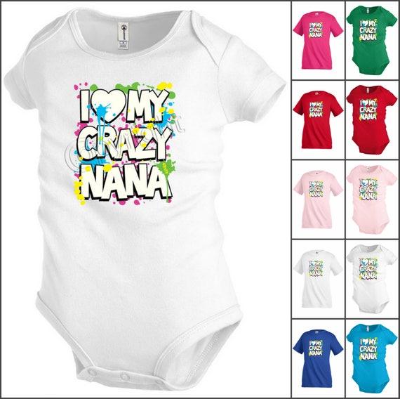 Toddler//Kids Short Sleeve T-Shirt My Nana in Illinois Loves Me