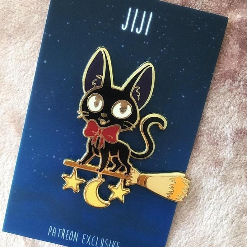 Kiki Black Cat Witch Cartoon Enamel Pin Anime image 0