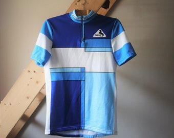 VTG T-shirt cyclist / / unisex sportswear / / T-shirt blue geometric print / / BLACKY VTG Shirt / / Enter the Tribe of Street Style
