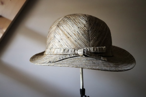Umbrella / / Vintage 70s Hat / / Vintage Safari Ha
