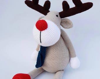 Rudolph the reindeer crocheted