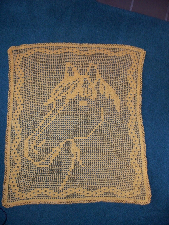Filet Crochet For Horse Lovers Pattern Only Miss Etsy