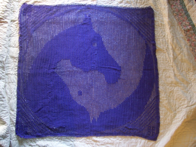 Filet Häkeln für Pferdeliebhaber Muster nur große Yin | Etsy
