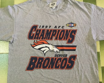Vintage 90s Denver Broncos 1997 AFC Champions t-shirt   Size XL Made In USA  Tee Shirt nfl   nflp American Football 9f4b6f85f