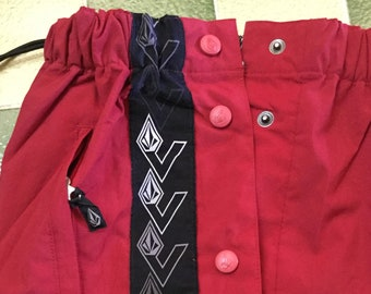 a4129eb70bd877 Volcom tear away popper reverse weave side logo sweatpants / tracksuit  bottoms / trackpants Size S