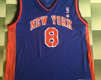 f584b4eec Vintage 90s New York Knicks Latrell Sprewell Champion Jersey Size 40