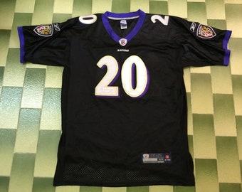 b5fe808c9ab Ed Reed Baltimore Ravens #20 Black Reebok Football Jersey NFL Size 48