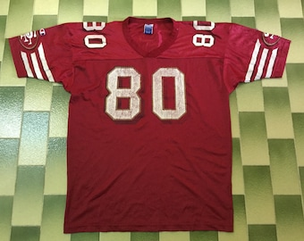 8cdc2de17 Vintage Jerry Rice  80 San Francisco 49ers Champion Football Jersey NFL  American football Jersey Made In USA Both Sleeve Has Champion Logo