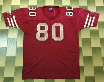 9090e6b54 Vintage Jerry Rice  80 San Francisco 49ers Champion Football Jersey NFL  American football Jersey Made In USA Both Sleeve Has Champion Logo