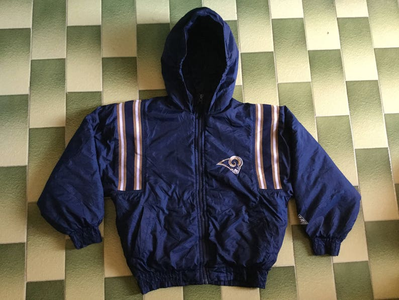 new concept 9e0ce 1a4c8 NFL Los Angeles Rams hoodie jacket kid size 8