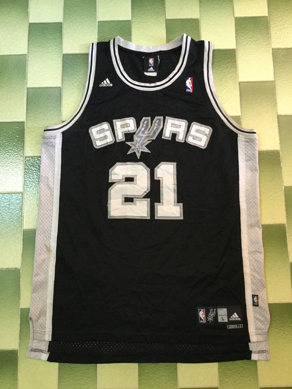 Vintage NBA Adidas Tim Duncan #21 San Antonio Spurs Jersey size L basketball