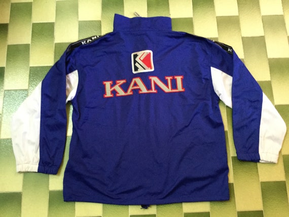 58927a9aa84f9 Vintage Karl Kani Sport tapered spellout track Jacket Size M