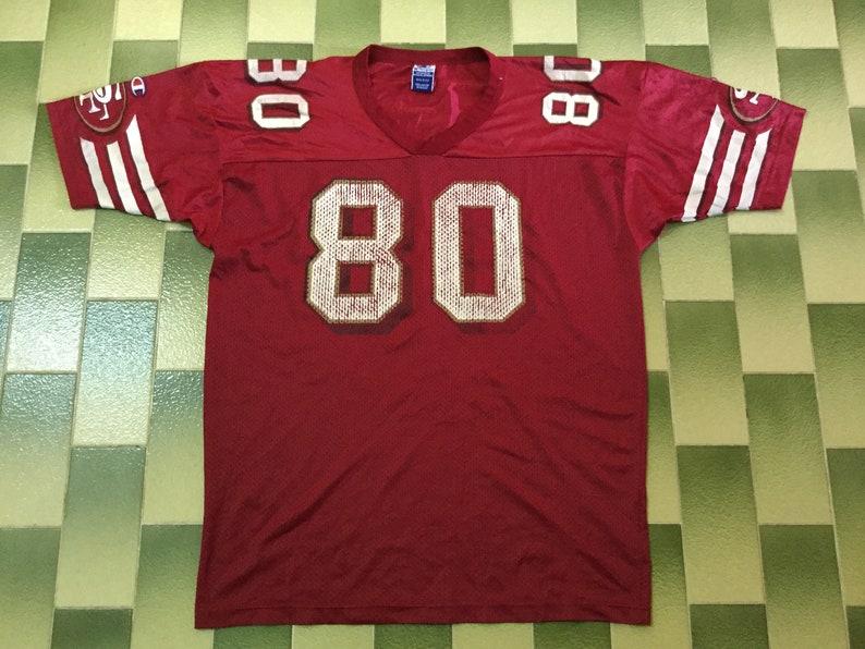 007664c56 Vintage Jerry Rice 80 San Francisco 49ers Champion Football | Etsy